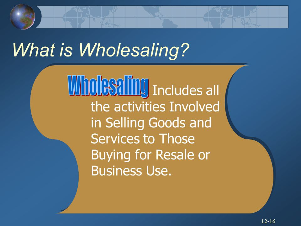 What is Wholesaling Wholesaling