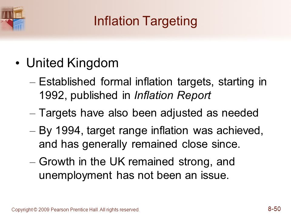 inflation targeting in uk and australia Monetary policy is the process by which  in order to reach a target rate of inflation  the inflation report provides an analysis of the uk economy and the.