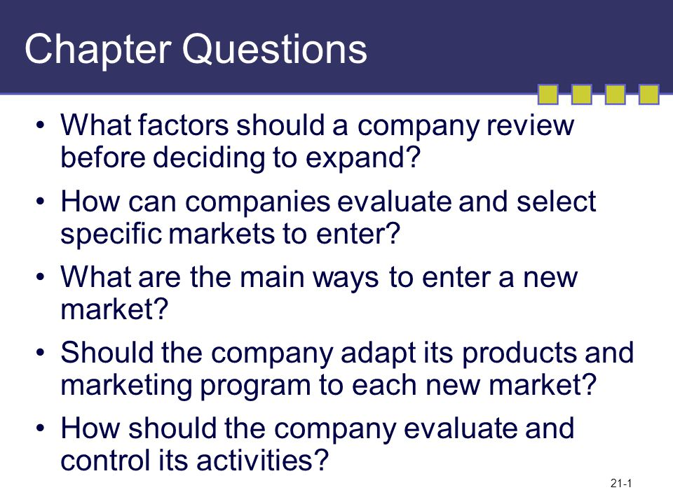deciding how to enter the market Deciding on the most appropriate form of market entry involves understanding  each of the various  decide how to enter them a number of.
