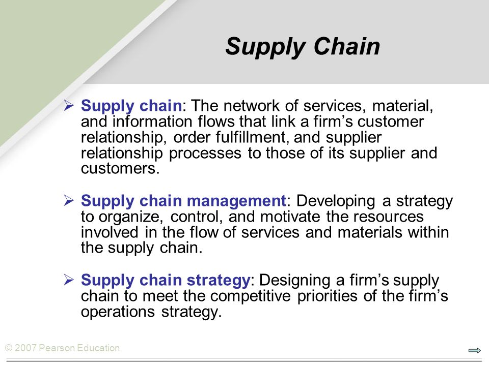 customer relationship management and supply chain A marketing philosophy based on putting the customer first it involves the collection and analysis of information designed for sales and marketing decision support.