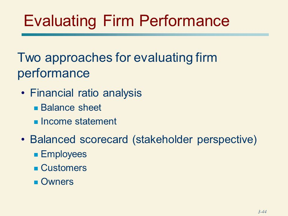 evaluating financial performance Choosing performance measures is a challenge performance measurement  systems play a key role in developing strategy, evaluating the.