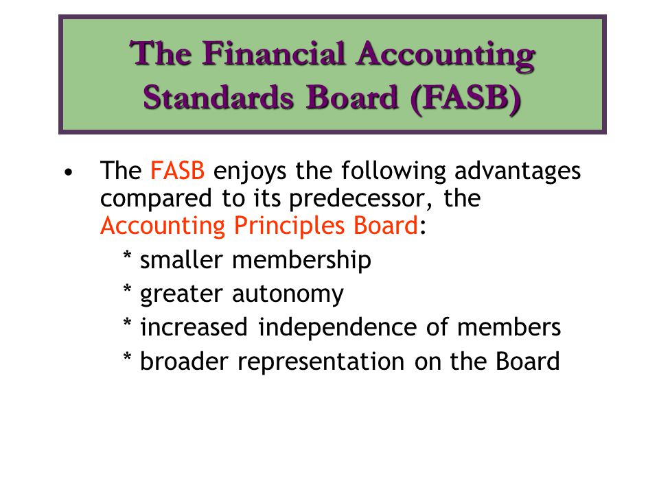 the financial accounting standards board Since 1973, the financial accounting standards board (fasb) has been the designated organization in the private sector for establishing standards of financial accounting and reporting in the united states.