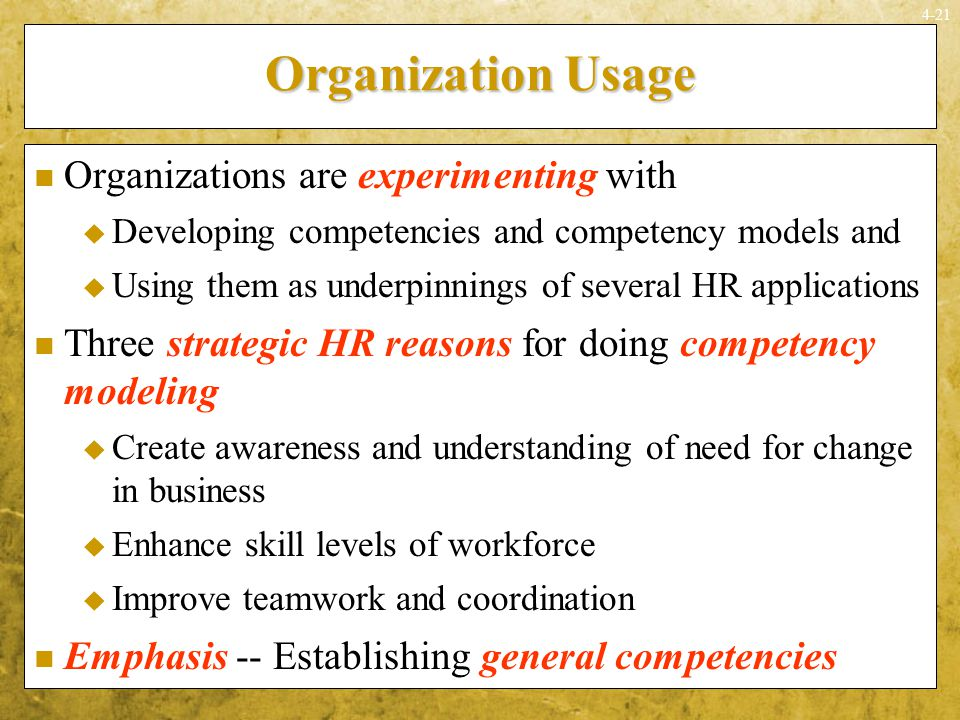 Organization Usage Organizations are experimenting with
