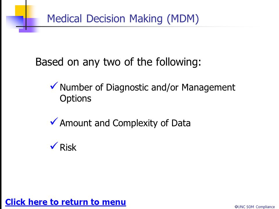Medical Decision Making (MDM)