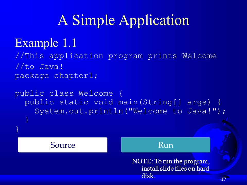 A Simple Application Example 1.1