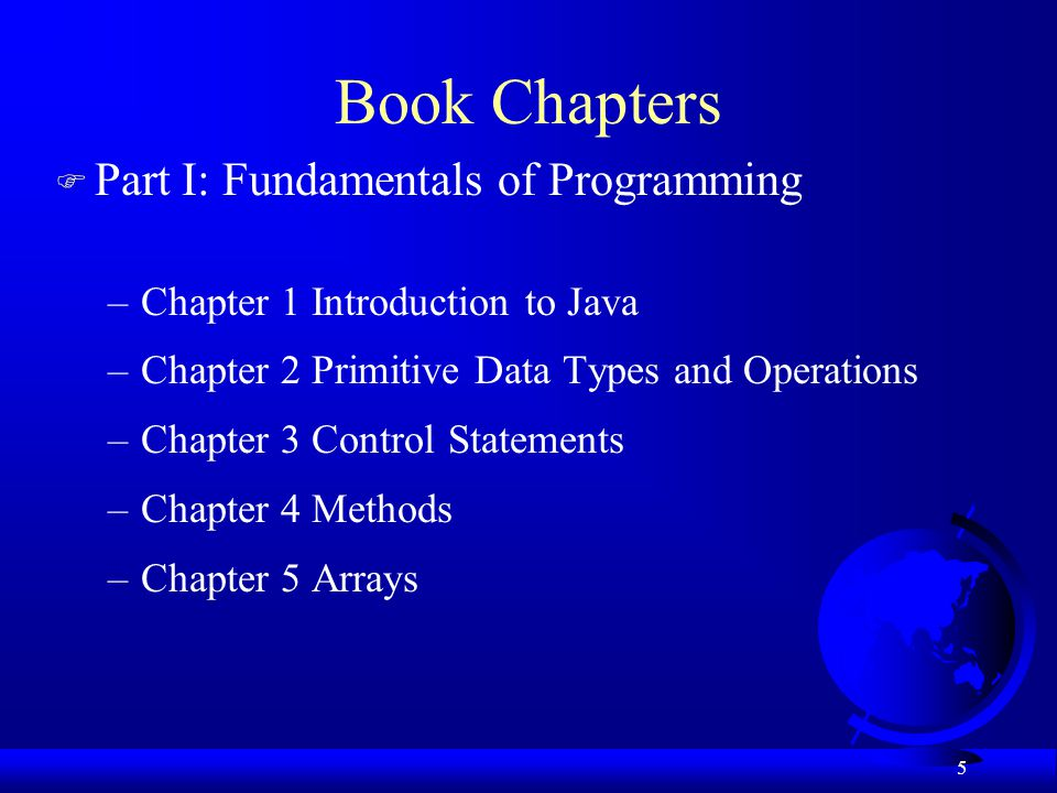 Book Chapters Part I: Fundamentals of Programming