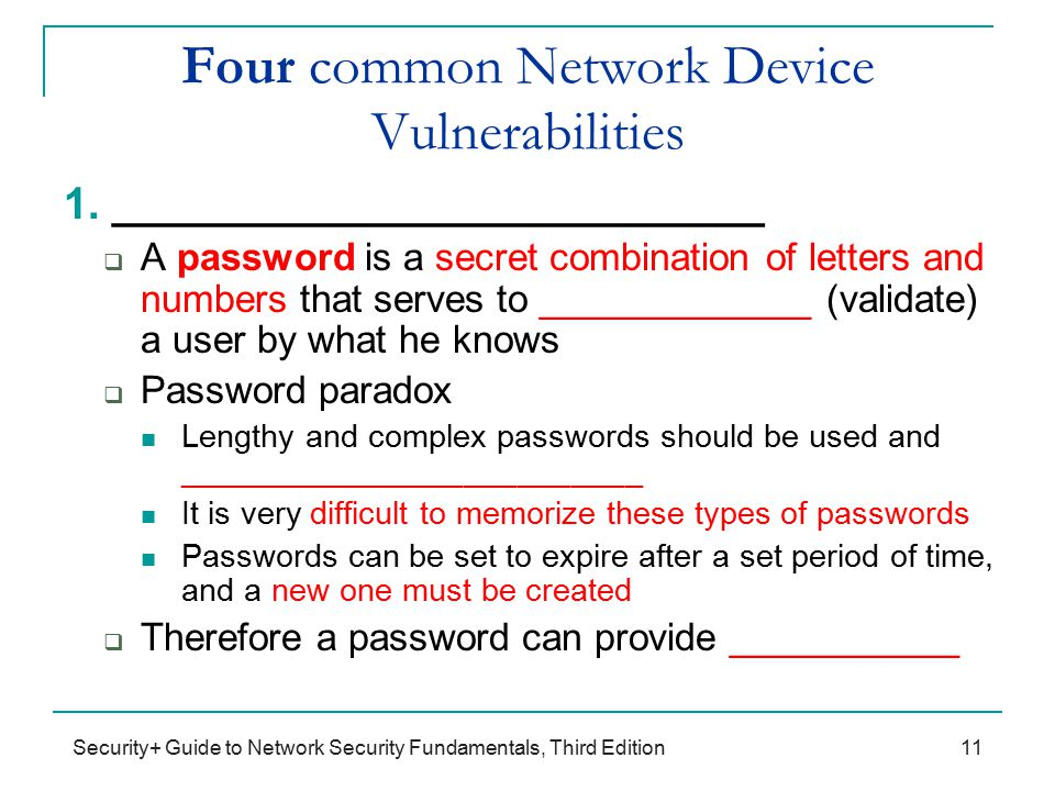 common network vulnerabilities Vulnerabilities, threats, and attacks  what are some common network security vul-  vulnerabilities could be weaknesses in the technology, configuration, or.