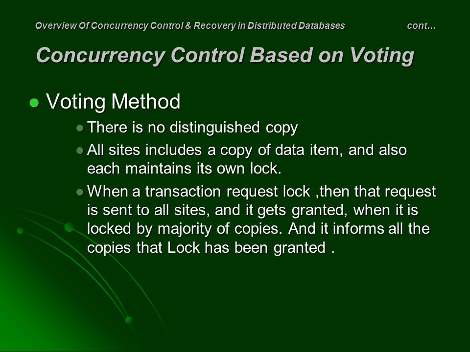 Voting Method There is no distinguished copy