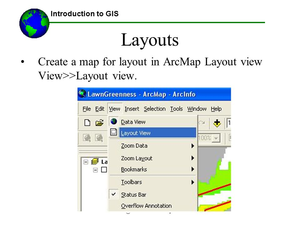 Lecture 3b Introduction to GIS. Layouts.