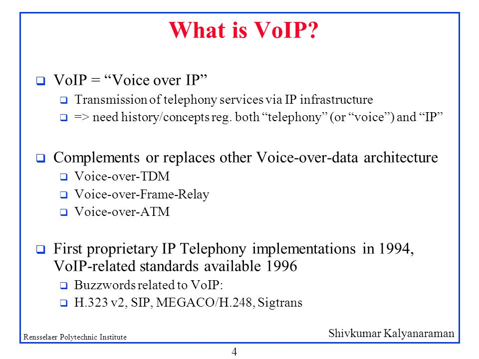 Internet Telephony: VoIP, SIP & more - ppt download