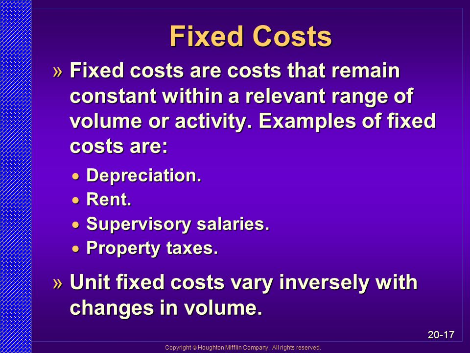 Chapter 20 Cost-Volume-Profit Analysis and Variable ...