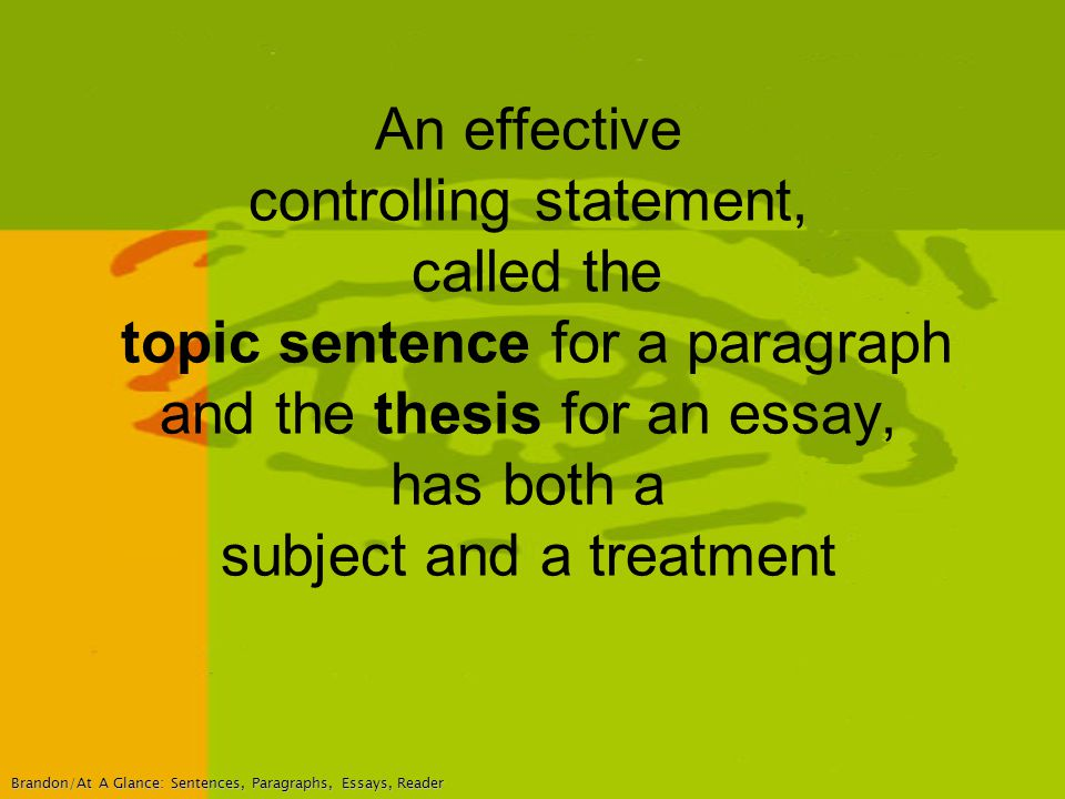 brandon essay This will help dr sawyerr's enc1101 students complete their research papers.
