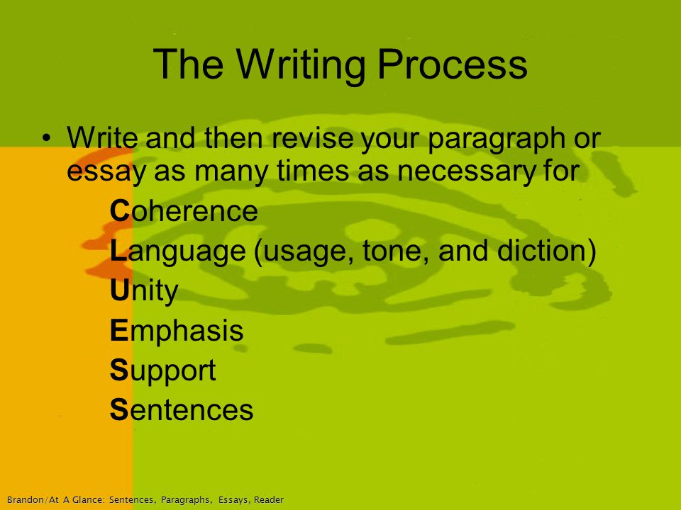 process paragraph or essay A process essay is a brief text in which the writer explains a particular process in a precise and detailed way process essays can be envisioned as how-to texts because they provide the reader with a comprehensive understanding of how to carry out the particular process described.
