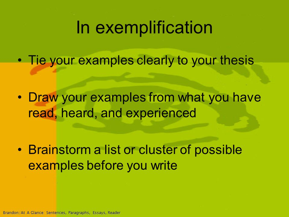 sample of exemplification essay