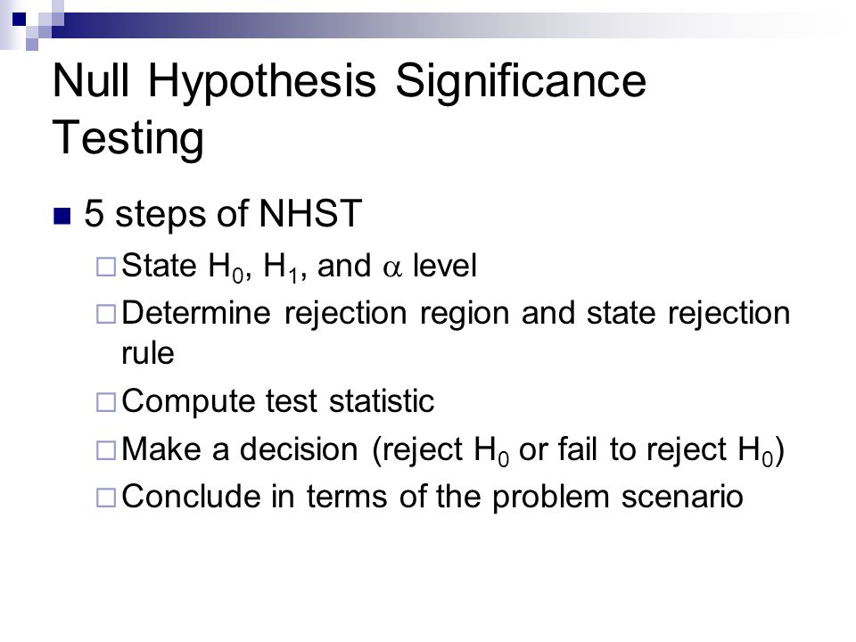 Null Hypothesis Significance Testing