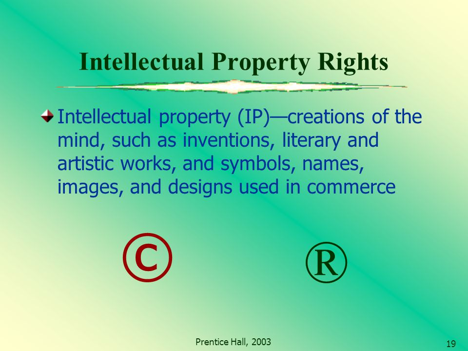intellectual property the creation of a mind Theories of intellectual property print email be the first to comment natural right theory: labour theory (locke's theory) property right is a natural right a person has a right to own the creation of his mind in the same manner he owns creation of his labour when a person is deprived of what he has created he becomes.
