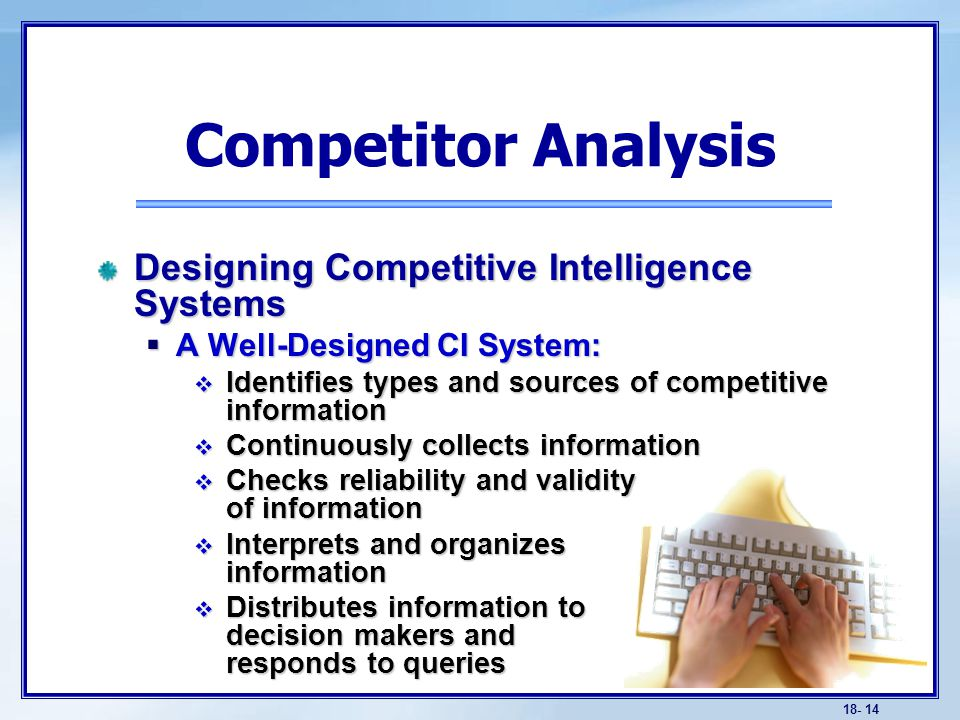 discuss the need to understand competitors as well as customers through competitor analysis Porter's five forces is a model used  companies can only grow by stealing customers away from competitors  michael porter's five forces – competitor analysis.