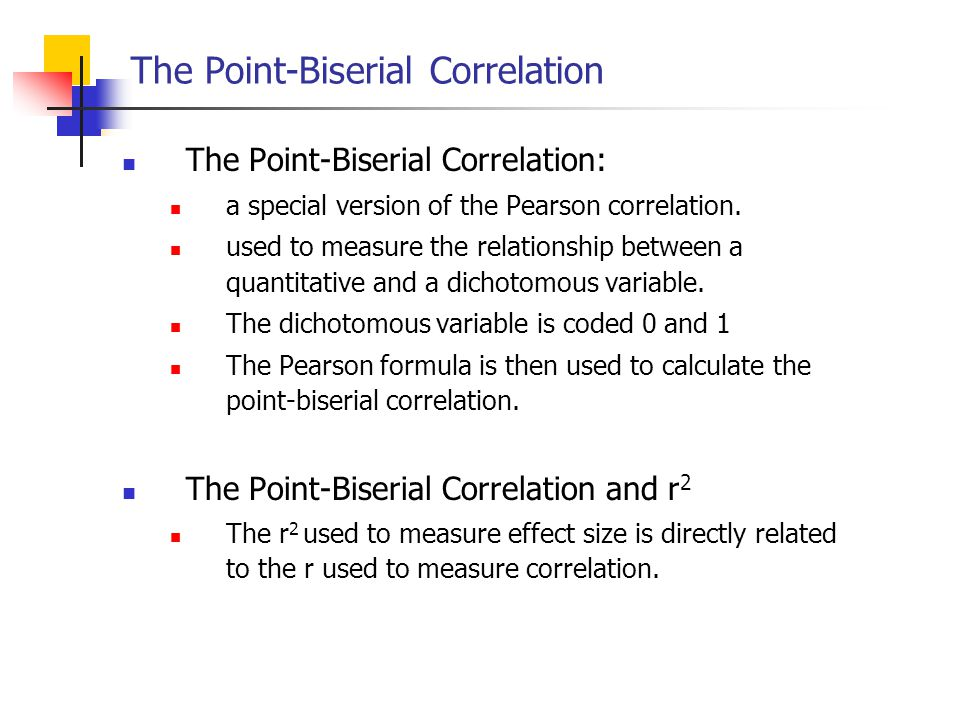 The Point-Biserial Correlation