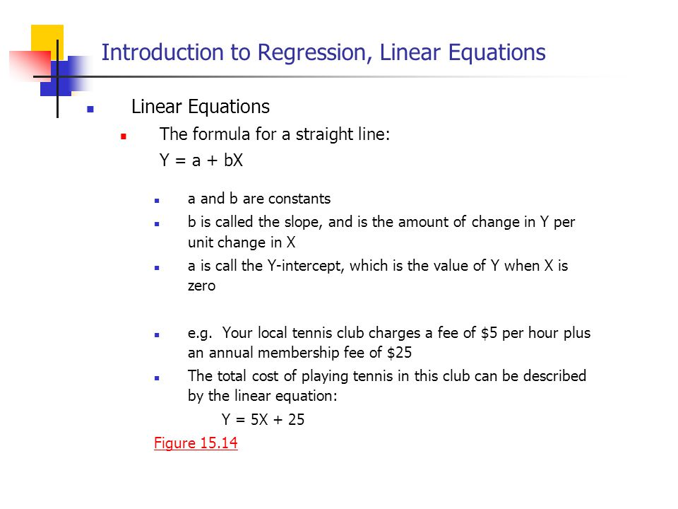Introduction to Regression, Linear Equations
