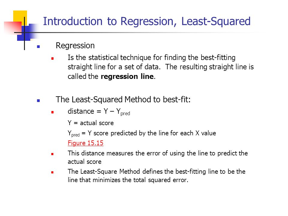 Introduction to Regression, Least-Squared