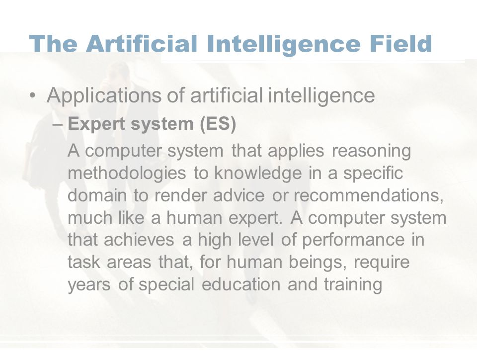 the field of artificial intelligence Intelligence is becoming a popular field in computer science it is claimed that artificial intelligence is playing an papers published on different artificial intelligence techniques used [10] artificial intelligence has the advantages over the.