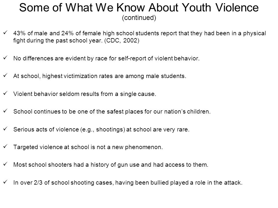 Causes of Student Violence in Schools