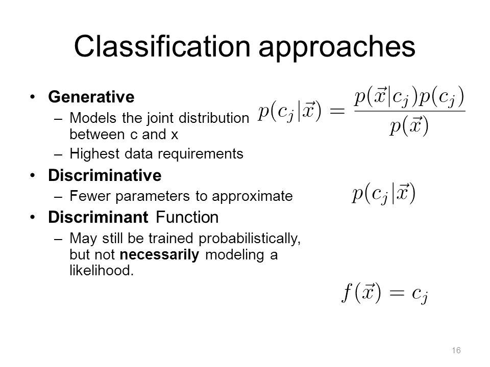 Treating Classification as a Linear model