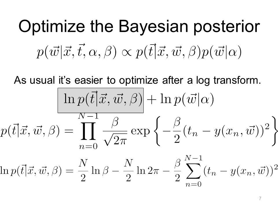 Optimize the Bayesian posterior