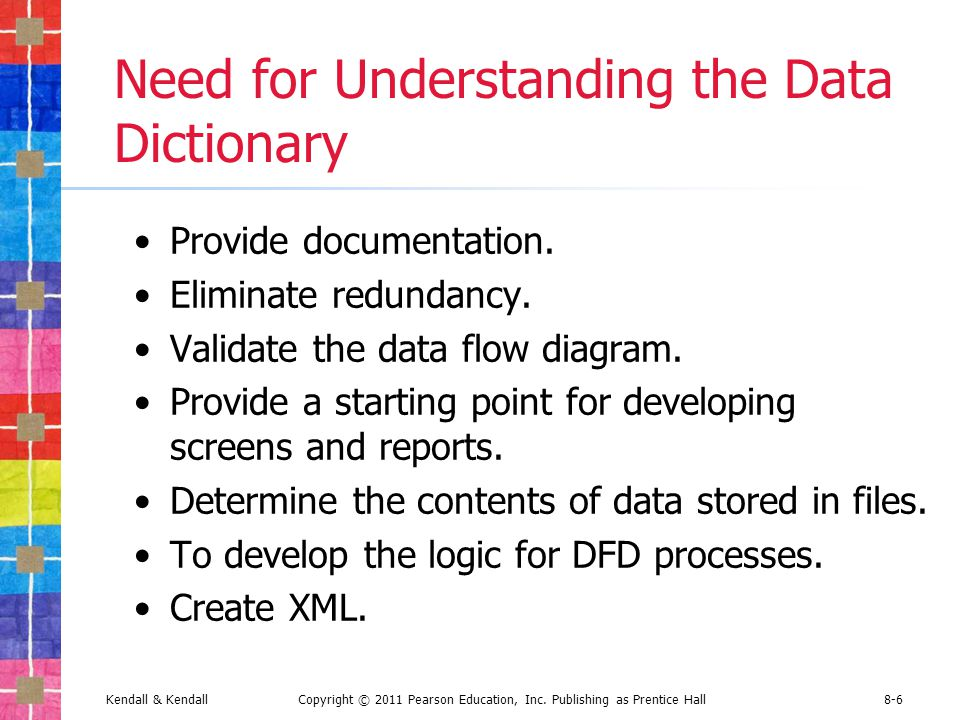 how to create a data dictionary in word