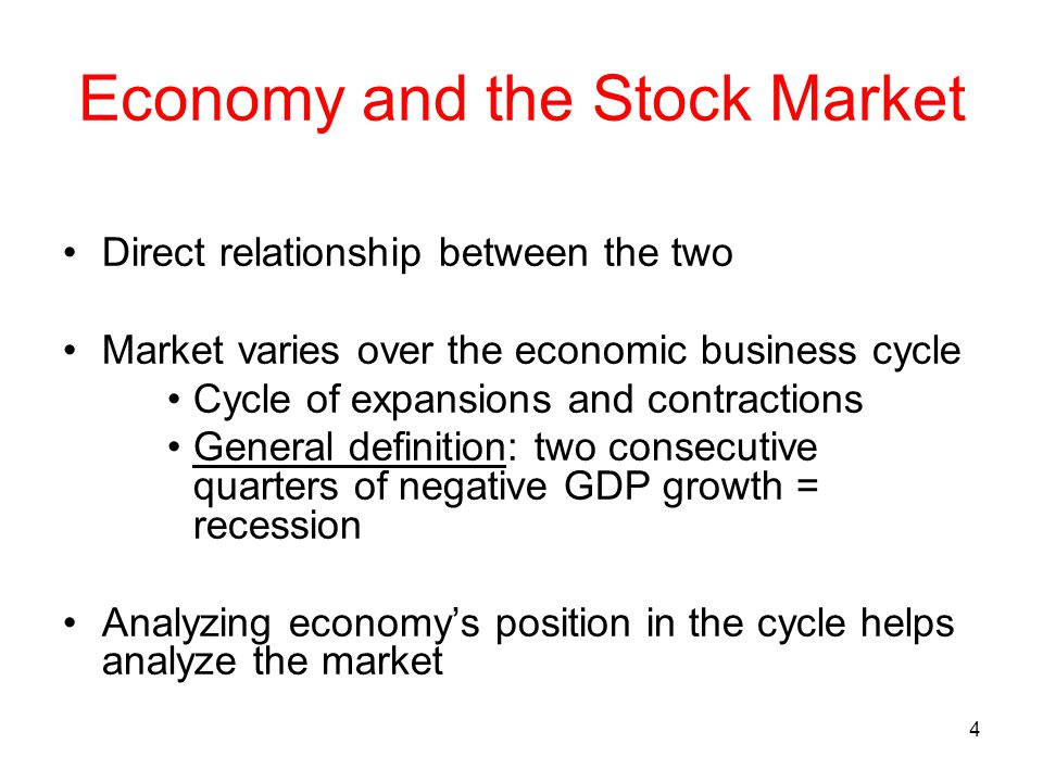 economy and stock market relationship
