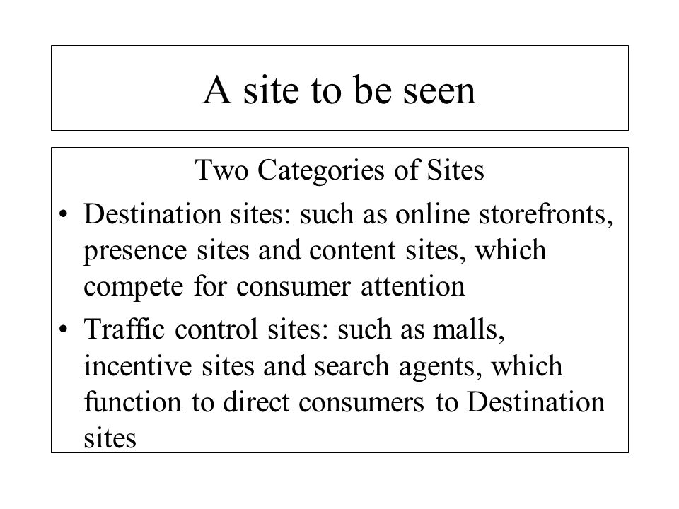 Two Categories of Sites