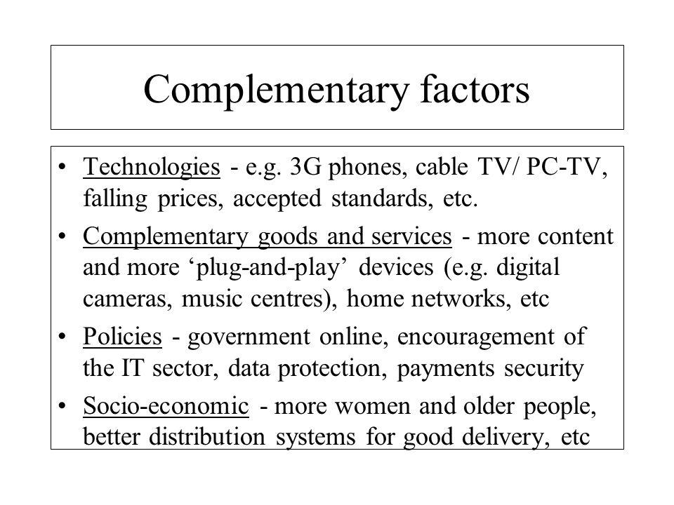 Complementary factors