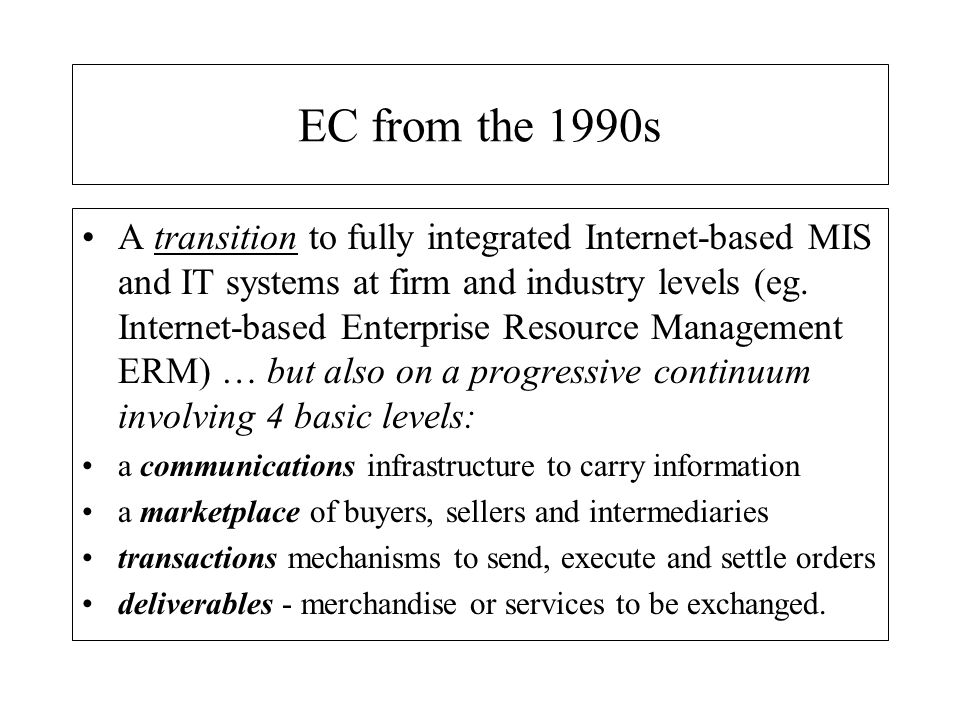 EC from the 1990s