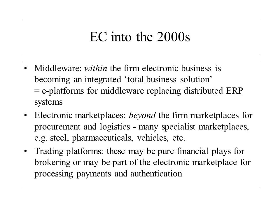 EC into the 2000s
