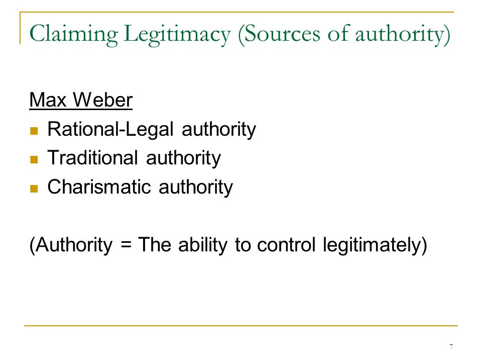 max weber charismatic authority Max weber's three types of authority sponsored the philosopher and sociologist max weber discerns the three types of authorities- traditional, legal-rational, and charismatic each of which.