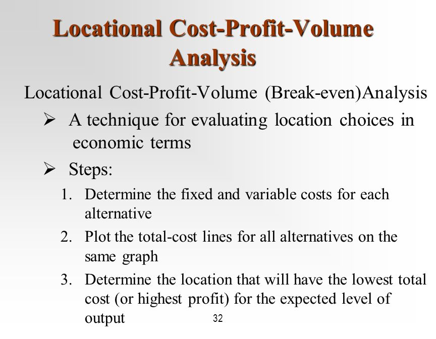 evaluating location alternative Answer to of the 4 methods to evaluate location alternatives: 1 the factor-rating method 2 locational break-even analysis 3 cen.