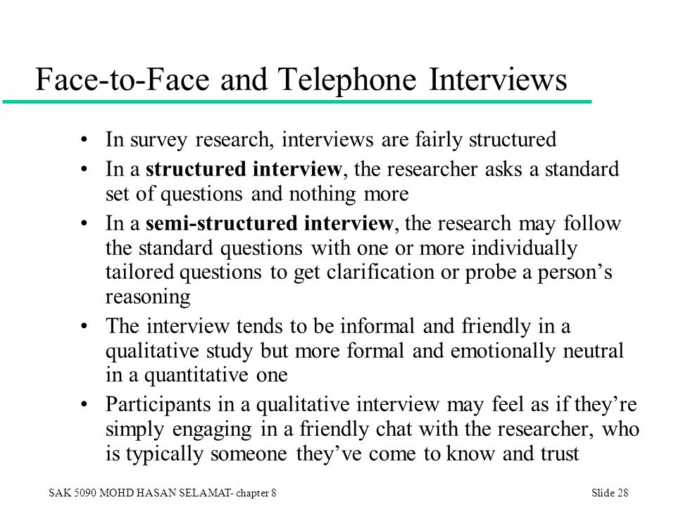 The Pros and Cons of Face-to-Face Interviews for Market ...