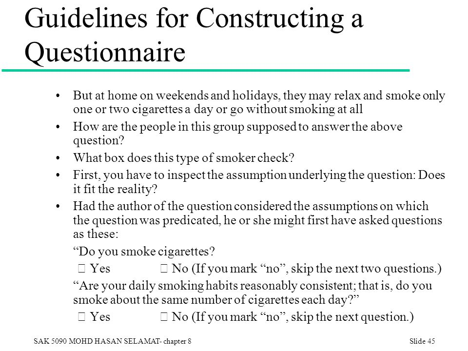 constructing a questionaire Examples of page construction for mail and web surveys plus examples of visual  layout effects in web surveys dillman, da (2007) mail and internet surveys:.