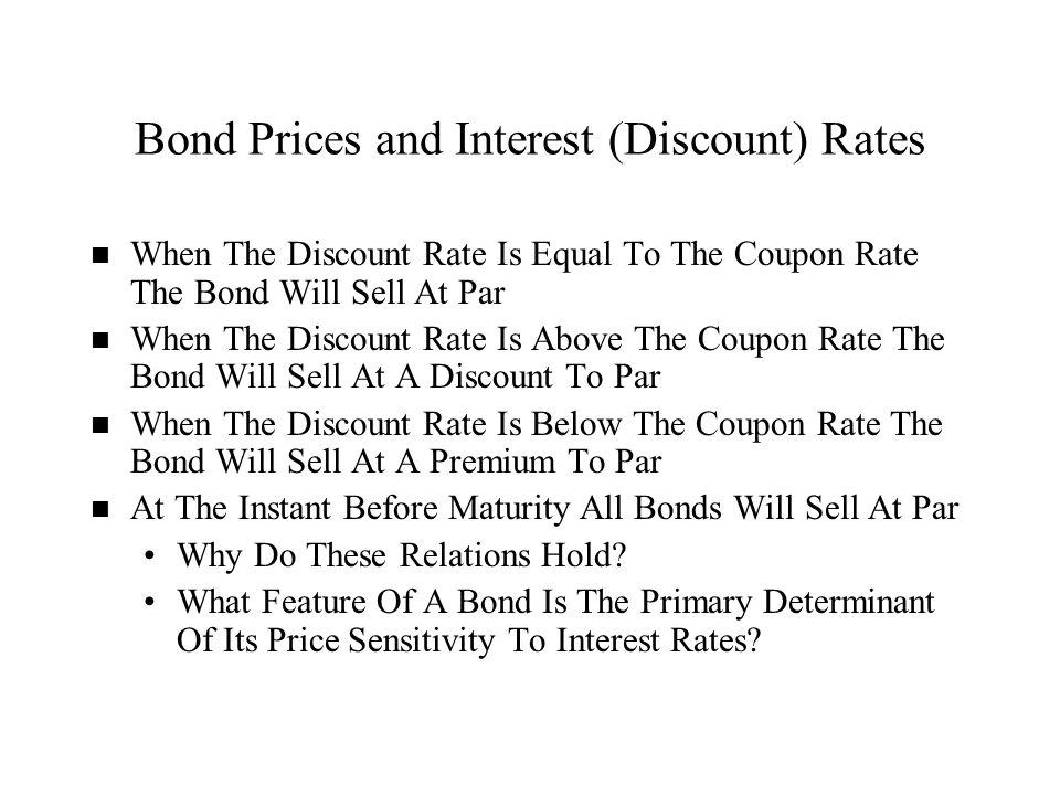 Coupon rate and interest rate