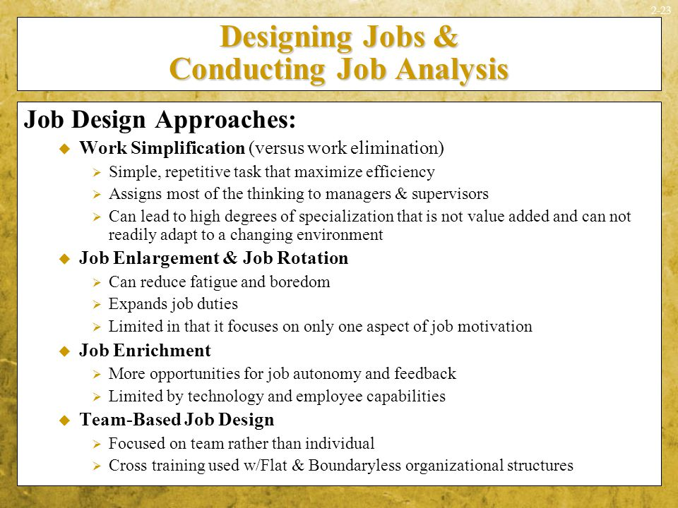 ilm conducting work analysis One way to audit or create job descriptions is to conduct a job analysis job  analysis is the process of gathering, examining and interpreting.