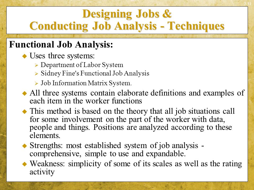 Conducting Job Analysis  Ppt Video Online Download