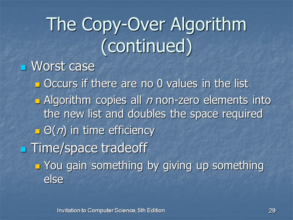 The Copy-Over Algorithm (continued)