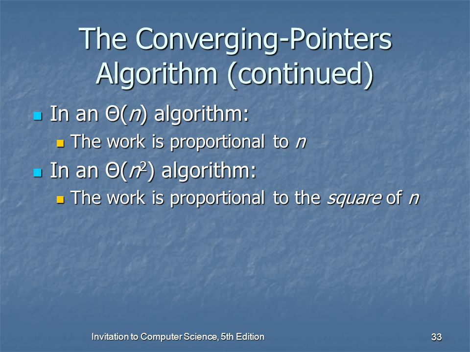 The Converging-Pointers Algorithm (continued)