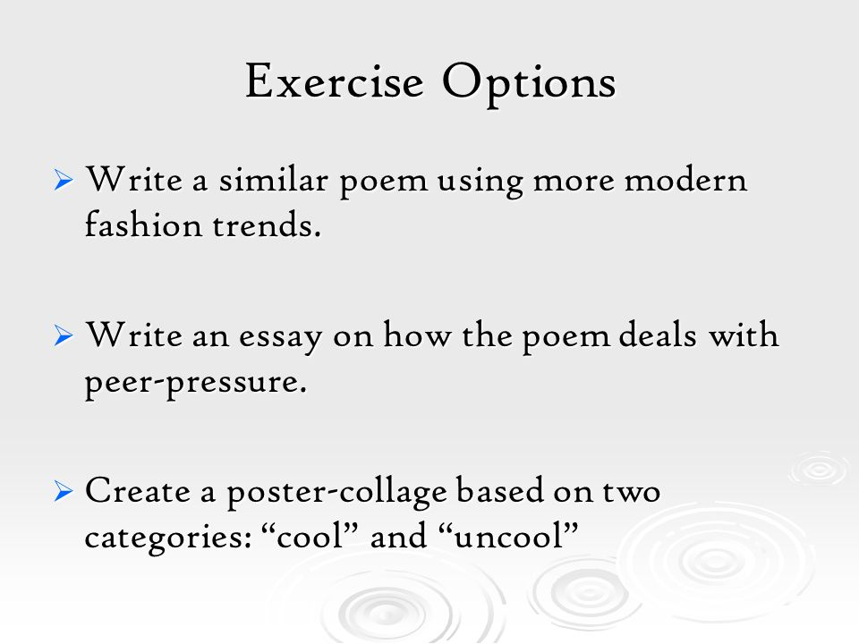 Write my fashion trends essay