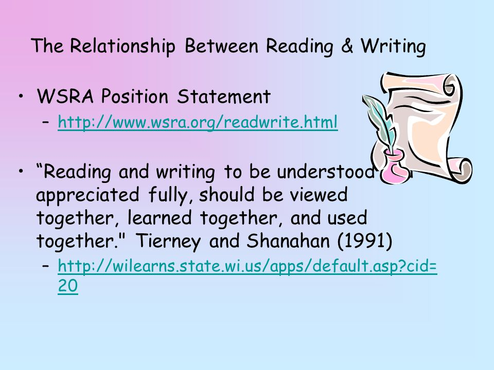 the relationship between reading and writing in english