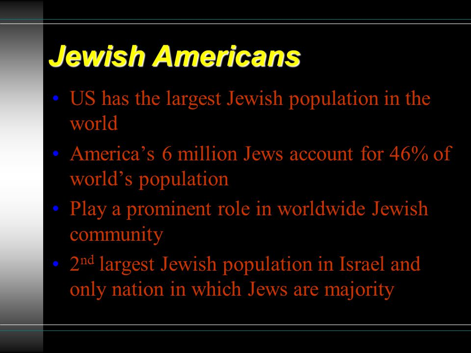 JEWISH AMERICANS: QUEST TO MAINTAIN IDENTITY - ppt video ...