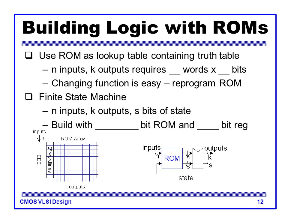 Building Logic with ROMs