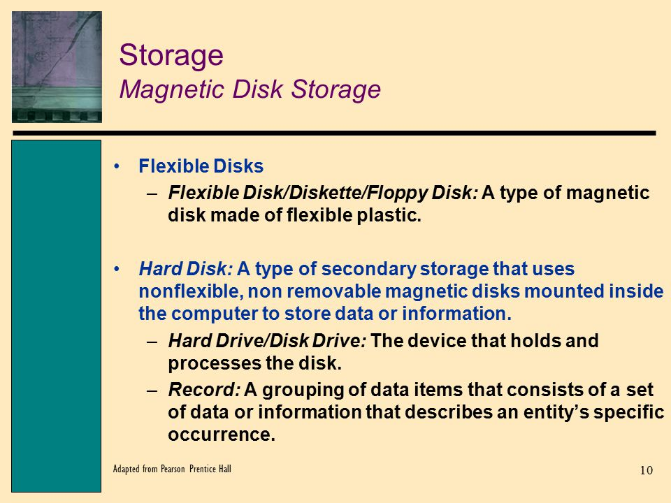 Storage Magnetic Disk Storage