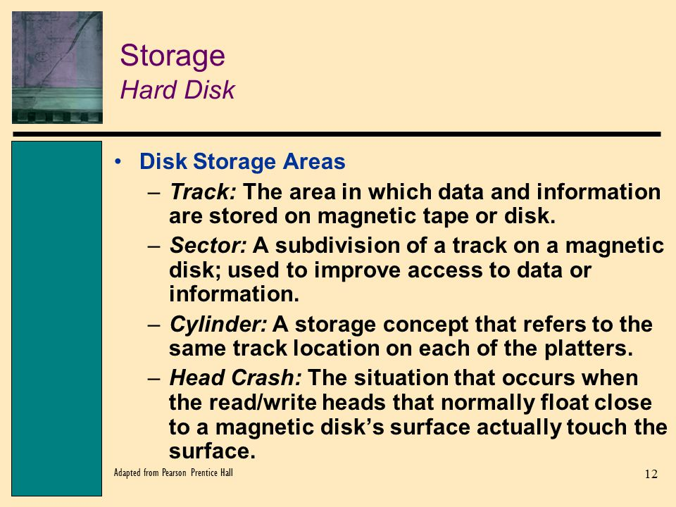 Storage Hard Disk Disk Storage Areas
