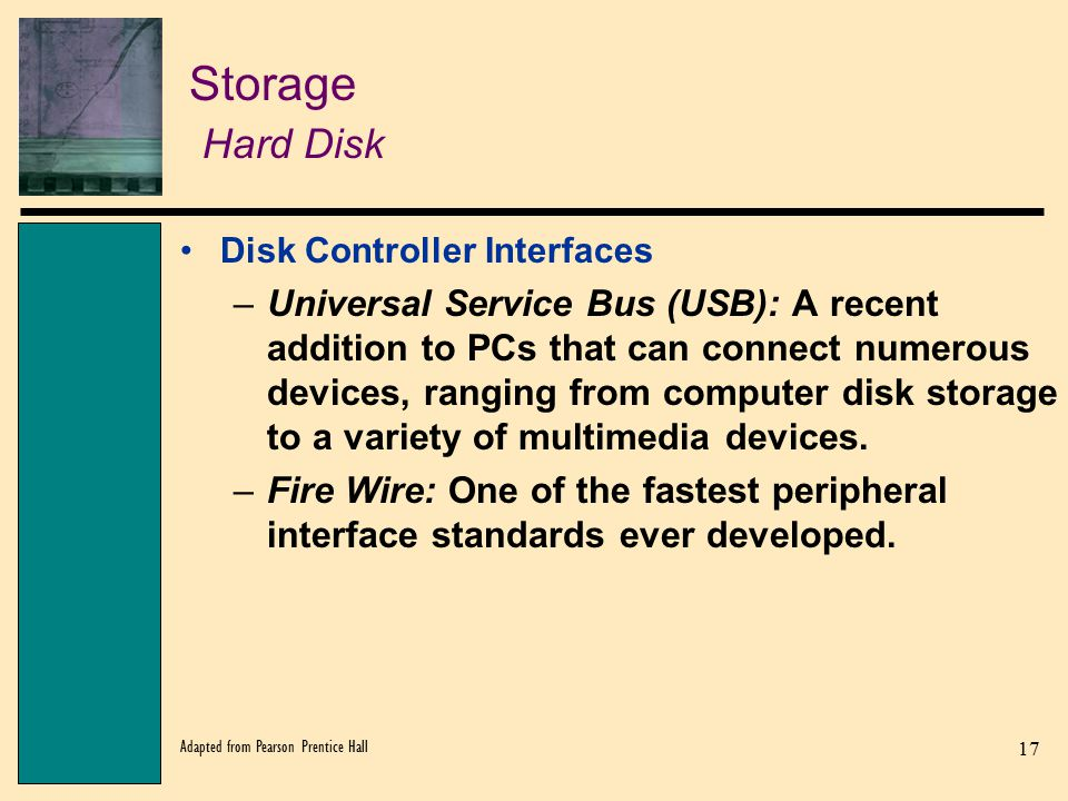Storage Hard Disk Disk Controller Interfaces.
